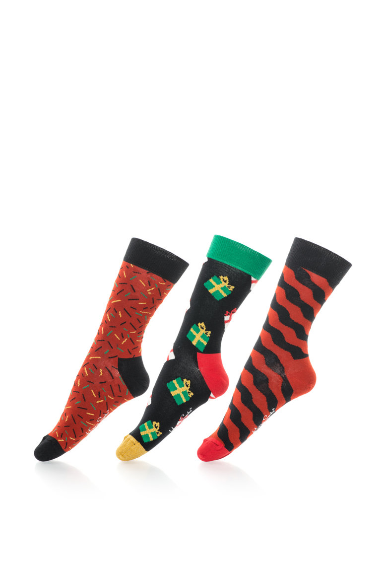 Happy Socks Set unisex de sosete livrate in cutie muzicala – 3 perechi