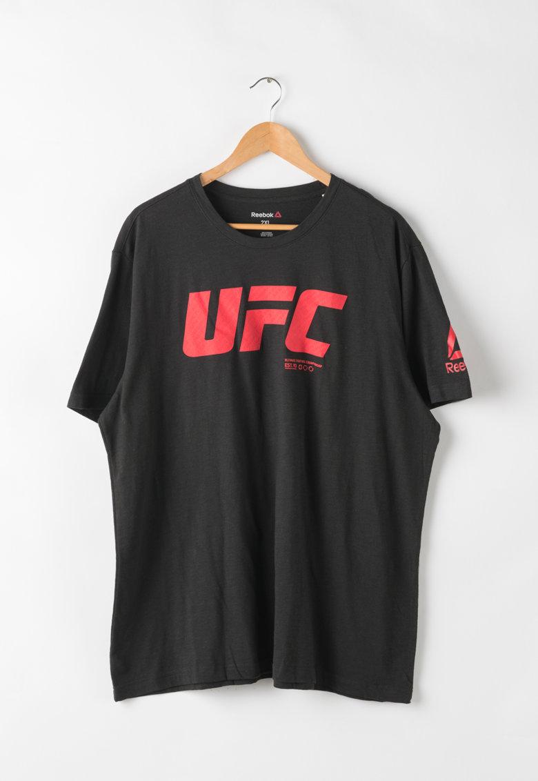 Reebok Tricou cu imprimeu cauciucat UFC