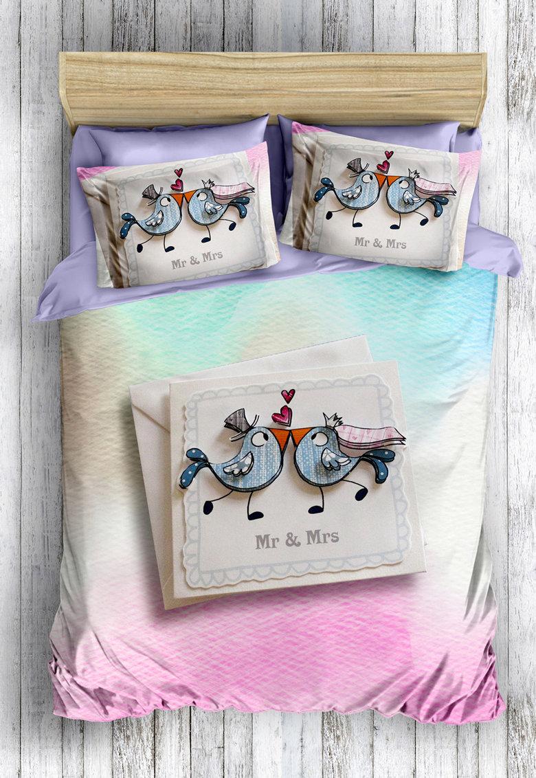Leunelle Set de pat cu imprimeu