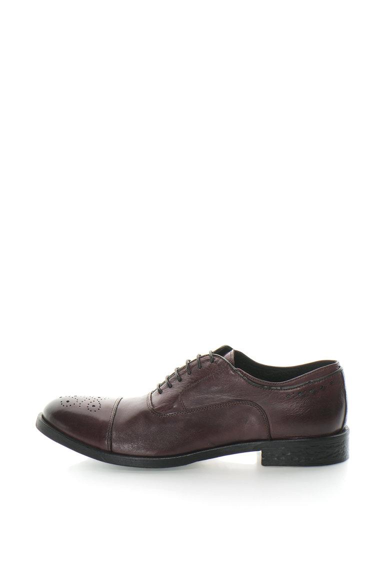 Zee Lane Collection Pantofi Oxford de piele cu detalii perforate