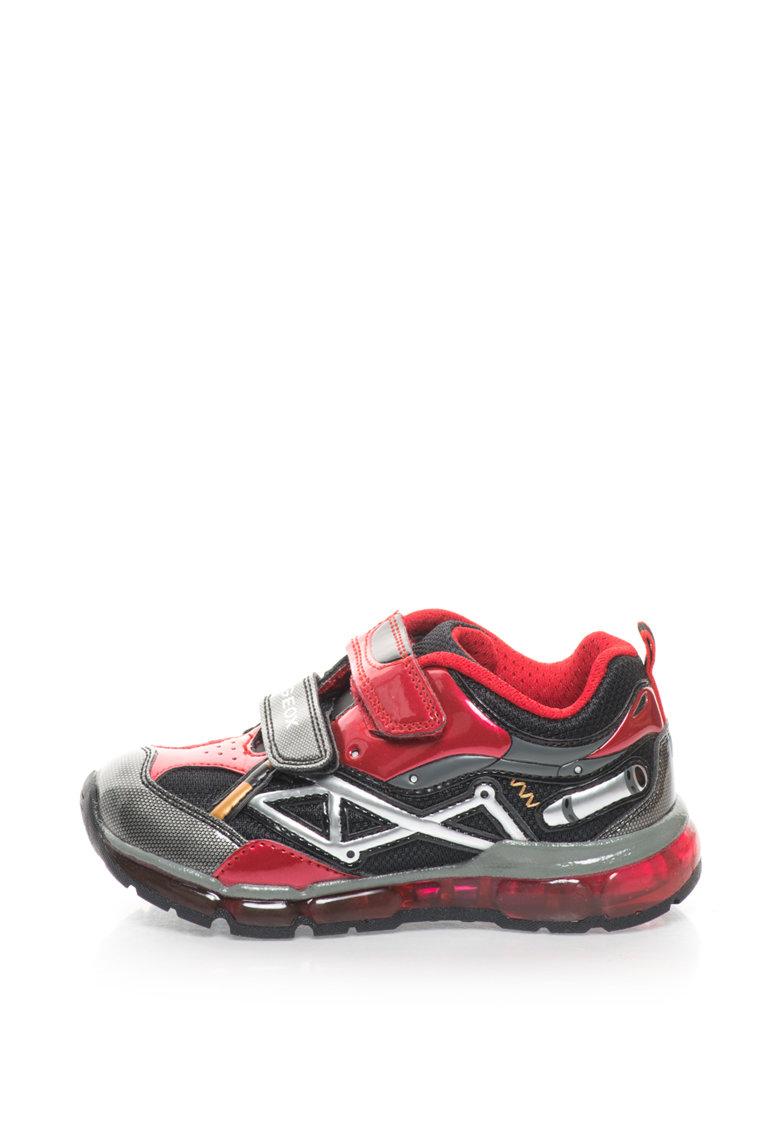 Pantofi sport cu velcro si LED-uri Android de la Geox
