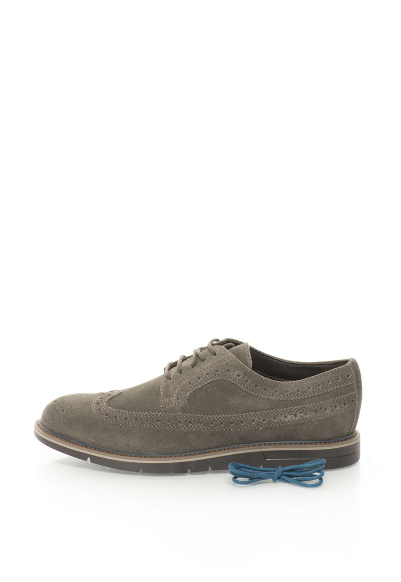 Geox Pantofi brogue de piele intoarsa Uvet