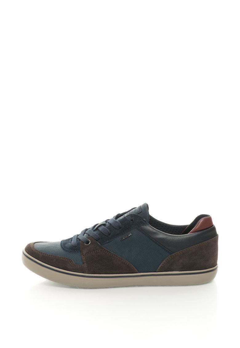 Pantofi sport cu garnituri de piele intoarsa Box Geox