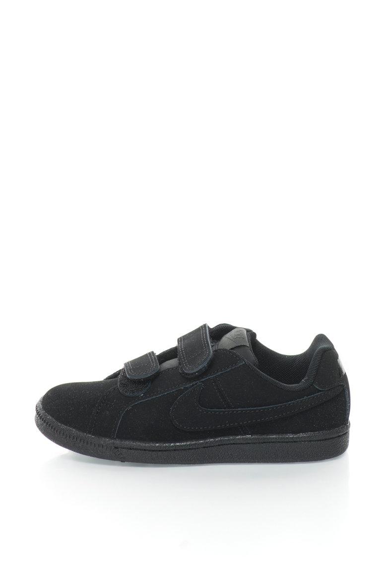 Nike Pantofi sport de piele intoarsa cu velcro Court Royale