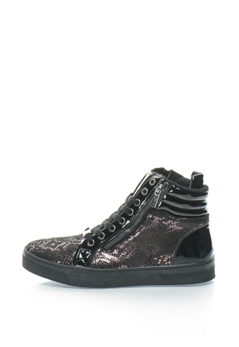 Pantofi sport inalti cu platforma wedge ascunsa