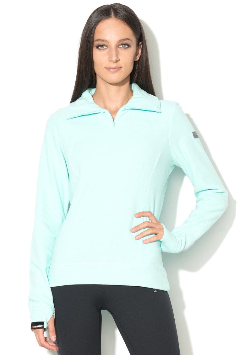 Bluza sport din fleece cu fenta pentru degetul mare de la ROXY