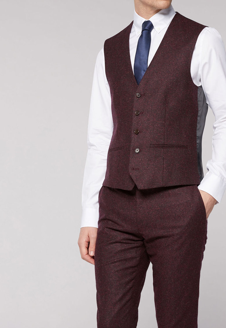 Vesta slim fit eleganta din amestec de lana