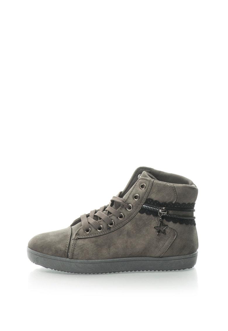 Pantofi Sport Inalti Cu Fermoar Decorativ