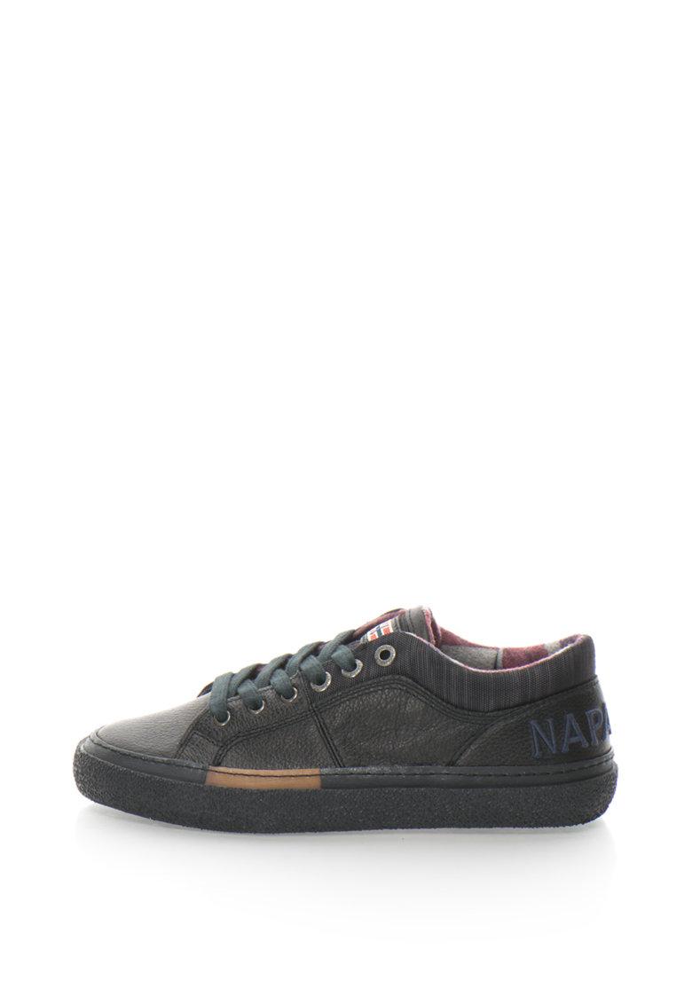 Napapijri Pantofi sport de piele cu aplicatie logo Jakob