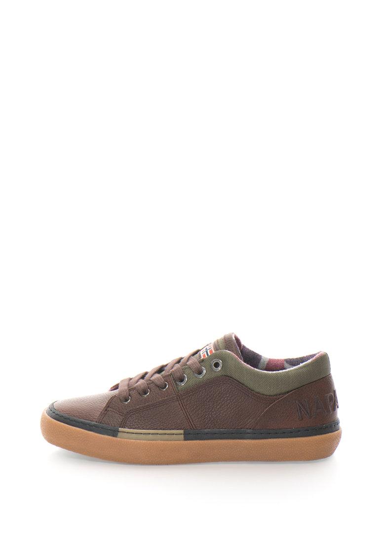 Pantofi sport de piele cu aplicatie logo Jakob de la Napapijri