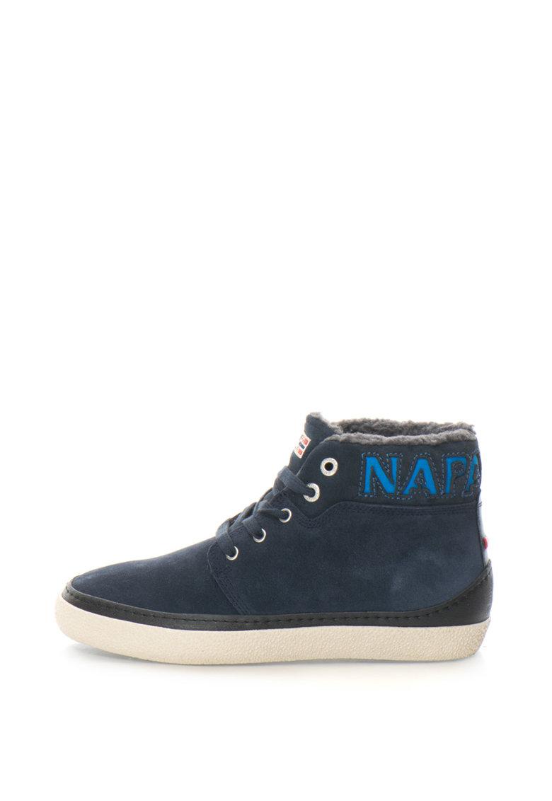 Pantofi sport mid-high de piele intoarsa cu logo Jakob