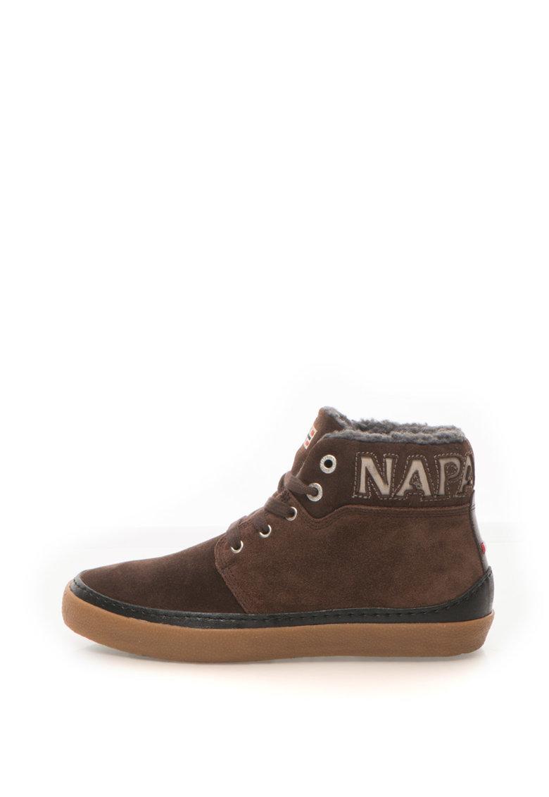 Napapijri Pantofi sport mid-high de piele intoarsa cu logo Jakob