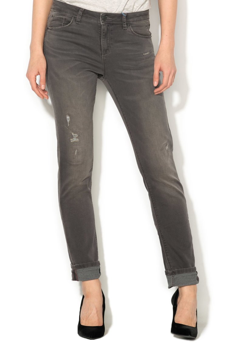 Esprit Blugi slim fit cu aspect decolorat