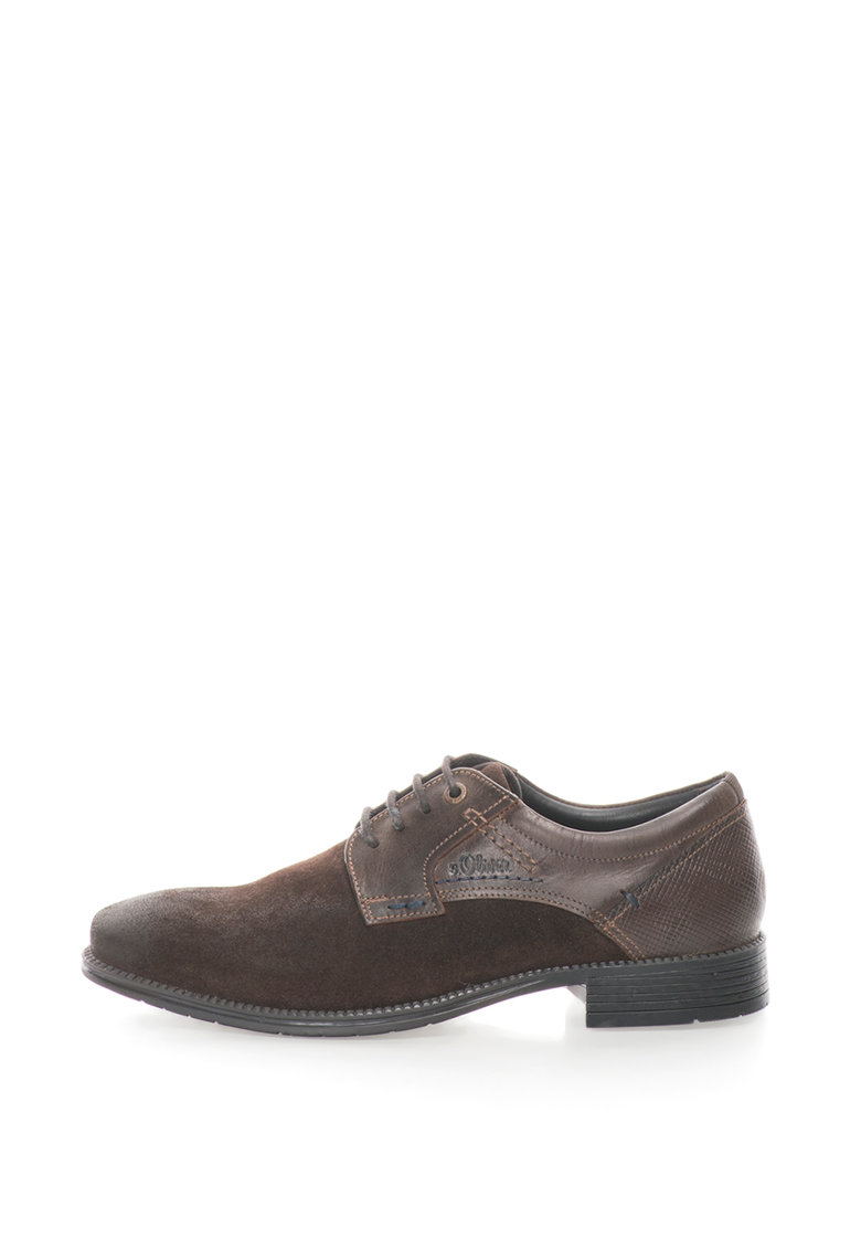 Pantofi derby de piele intoarsa cu aspect retro de la sOliver