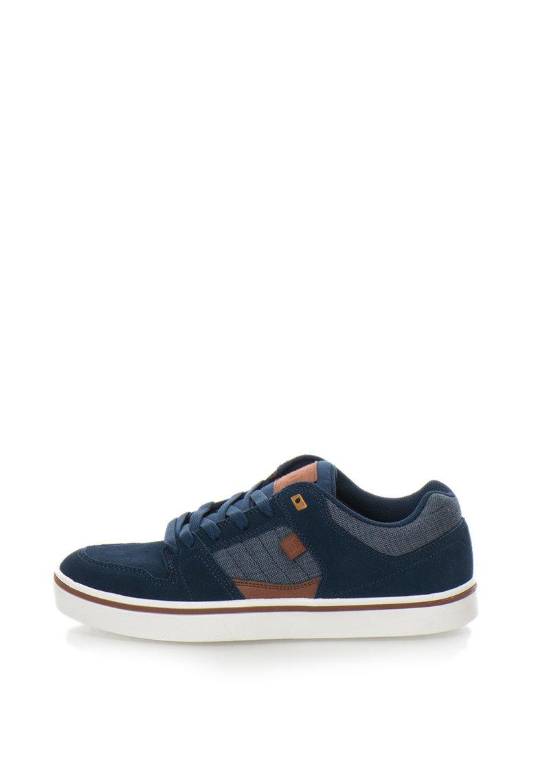 DC Pantofi de piele cu insertie logo Course