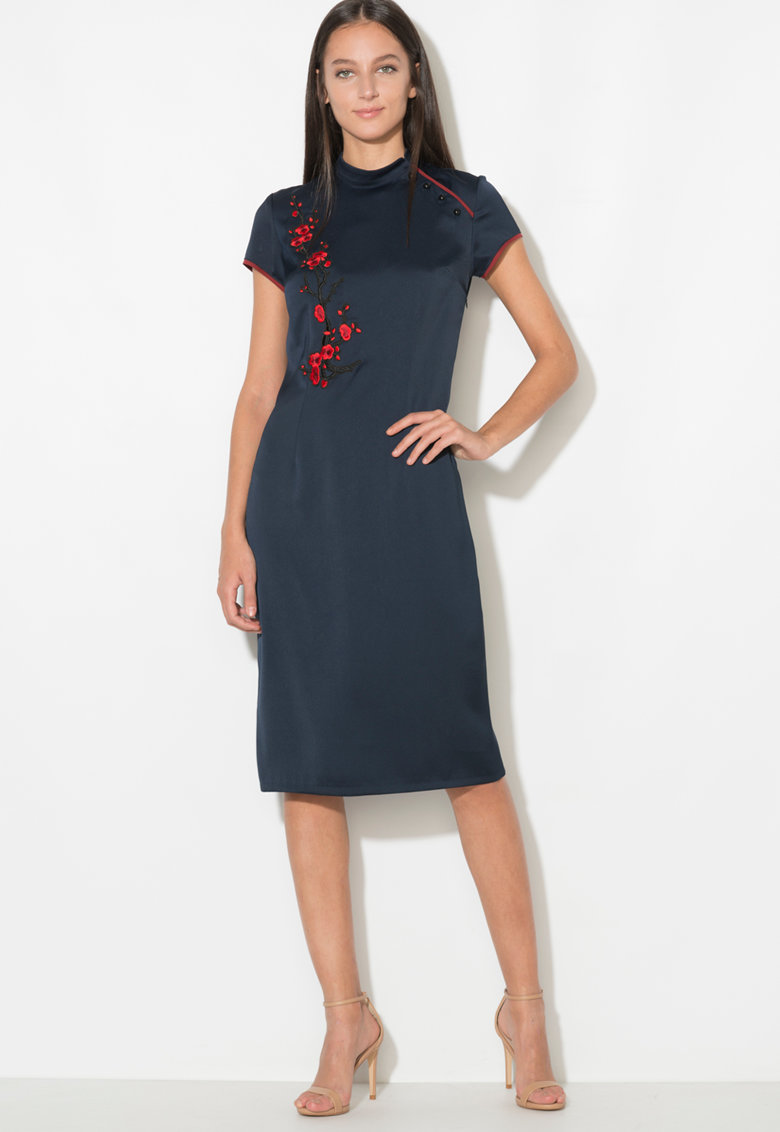 Zee Lane Collection Rochie cu broderii florale