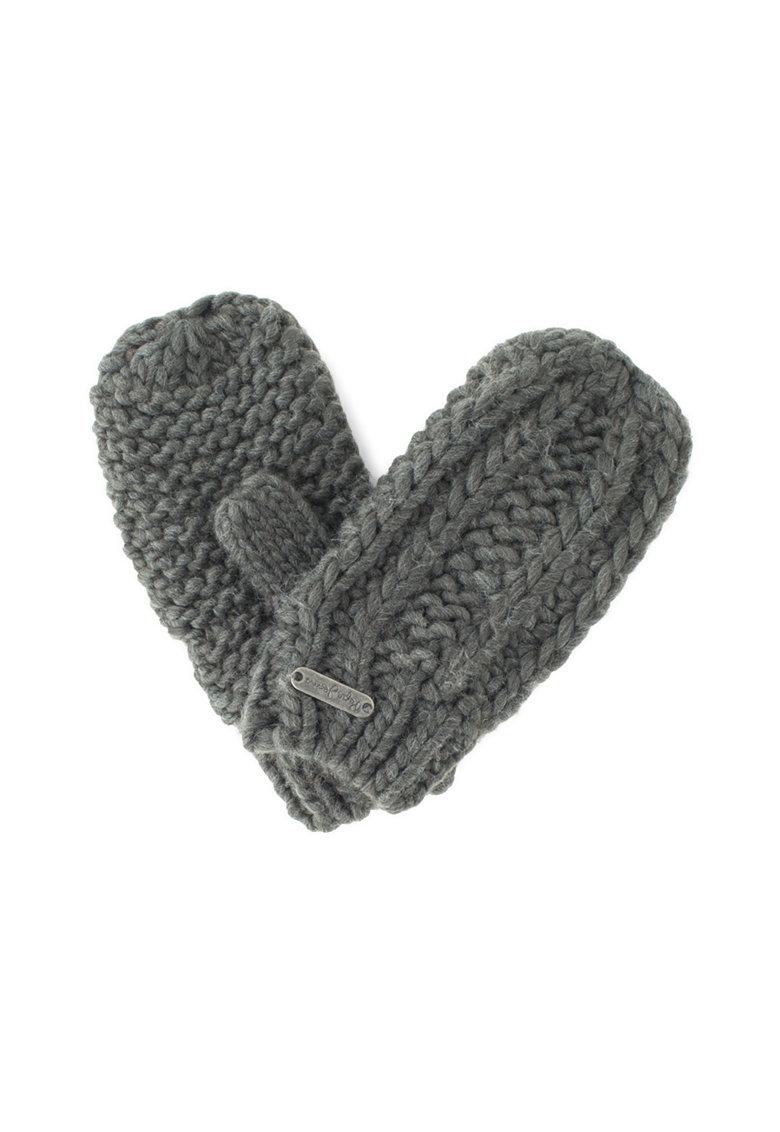 Pepe Jeans London Manusi tricotate cu aplicatie logo Ribi