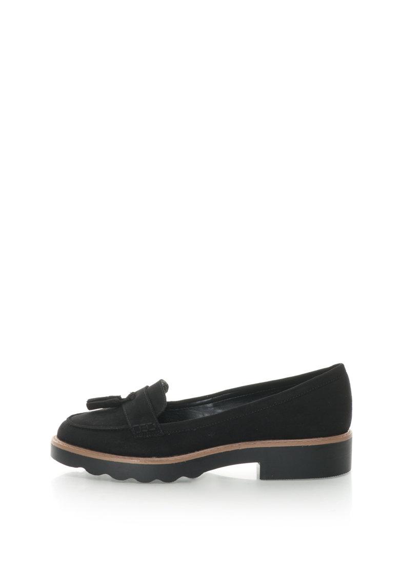 NEW LOOK Pantofi loafer de piele intoarsa sintetica cu canafi mici