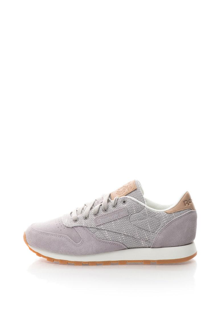 Reebok Classics Pantofi sport cu garnituri de piele intoarsa