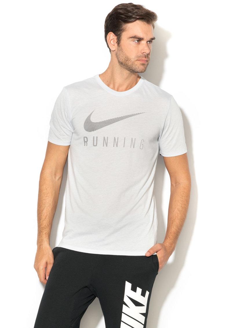 Nike Tricou cu imprimeu logo pentru alergare