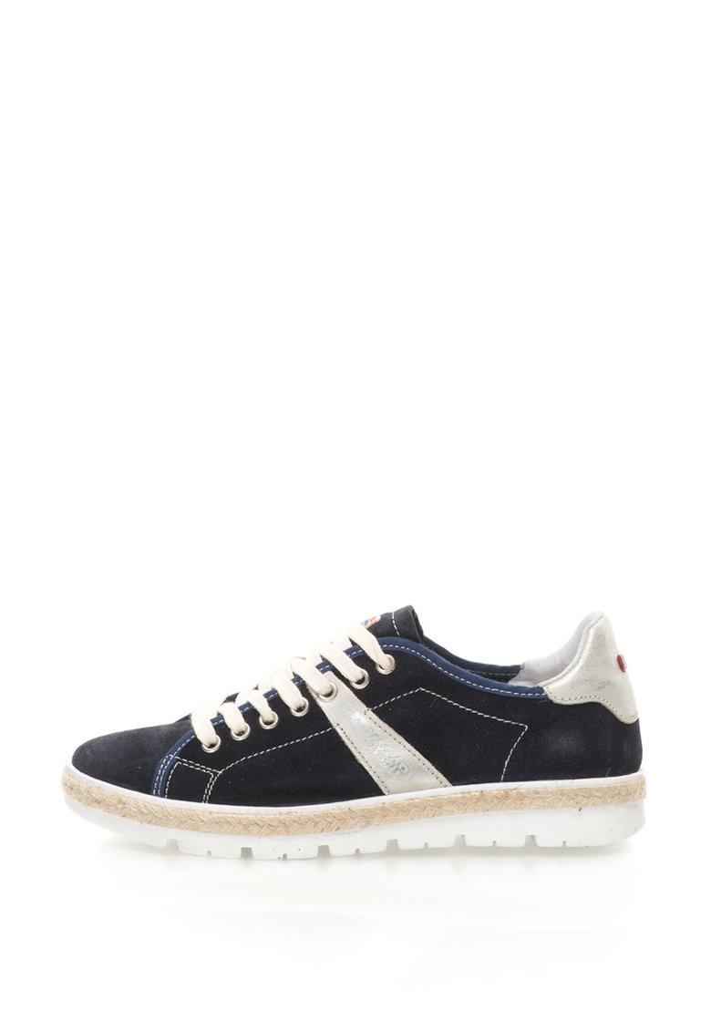 Pantofi sport wedge de piele intoarsa Lykke de la Napapijri 14733738-N69-NAVY-BLUE