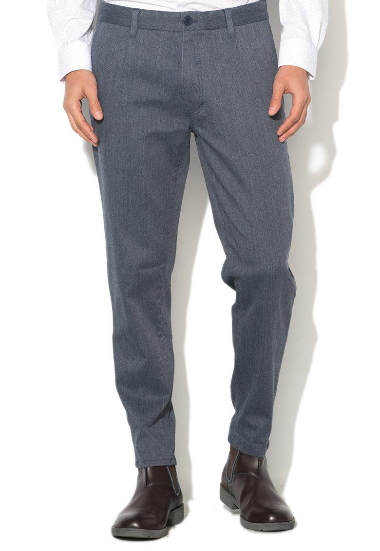 Esprit Pantaloni chino texturati cu croiala lejera