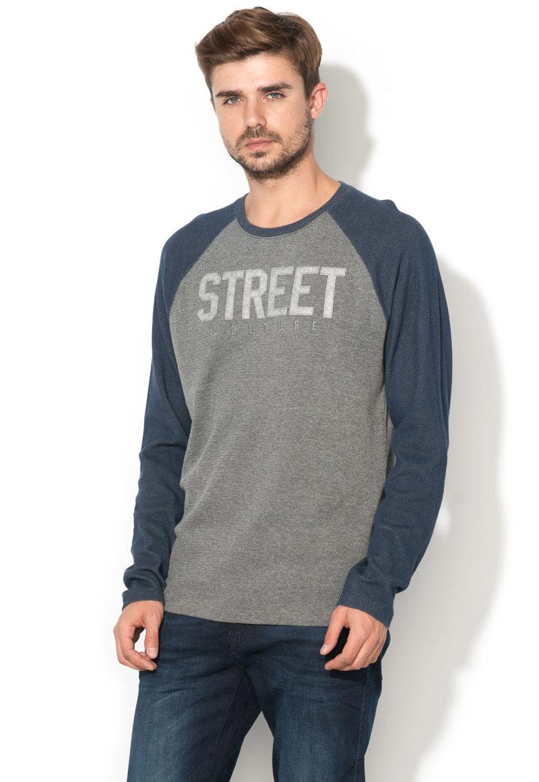 Bluza sport cu imprimeu text si maneci raglan de la EDC by Esprit