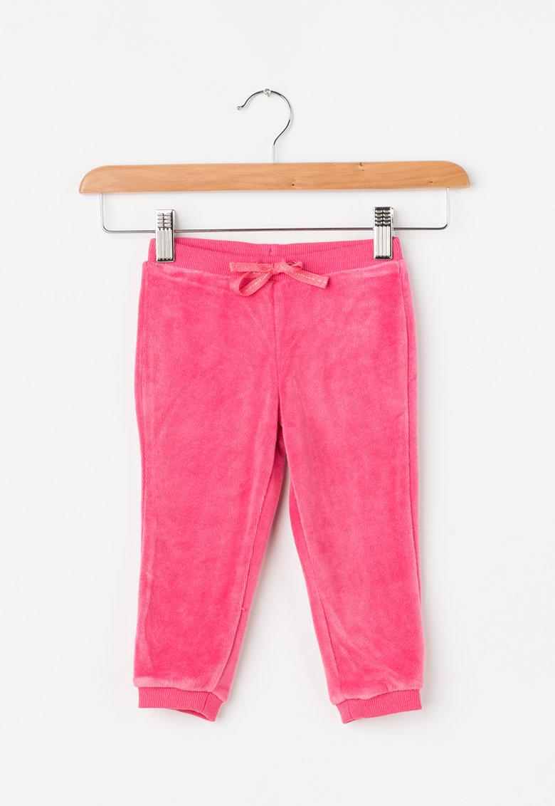 Pantaloni sport cu snur pentru ajustare Velour de la United Colors of Benetton