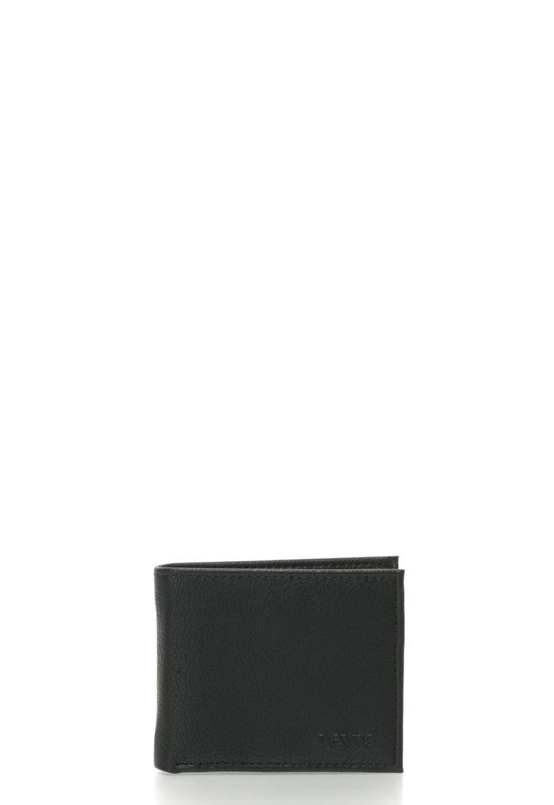 Portofel pliabil de piele sintetica cu logo in relief de la Levis