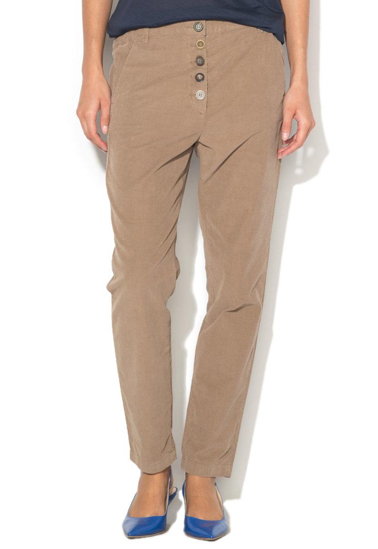 Pantaloni Chino Din Material Reiat