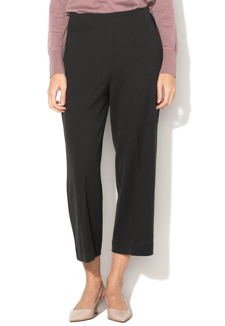 Pantaloni Culotte Texturati - Cu Fermoar Lateral