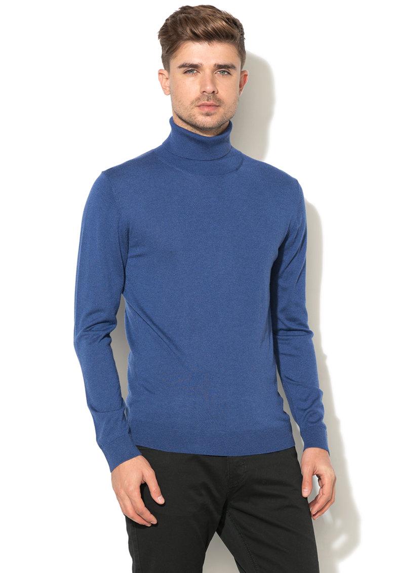 United Colors of Benetton Pulover tricotat fin cu guler inalt
