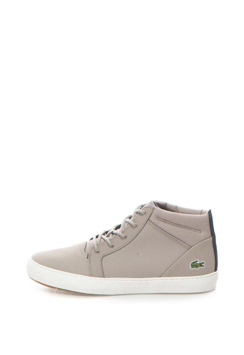 Lacoste Pantofi sport mid-hi din piele si material textil