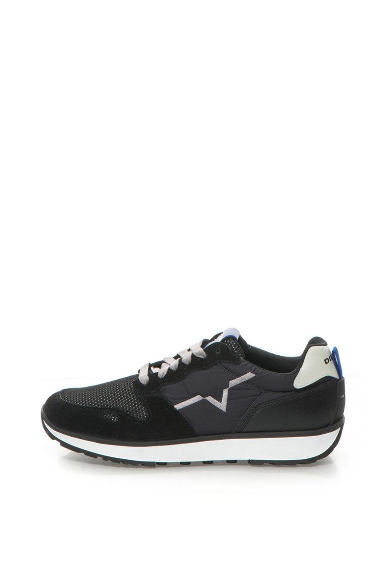 Diesel Pantofi sport cu garnituri de piele intoarsa