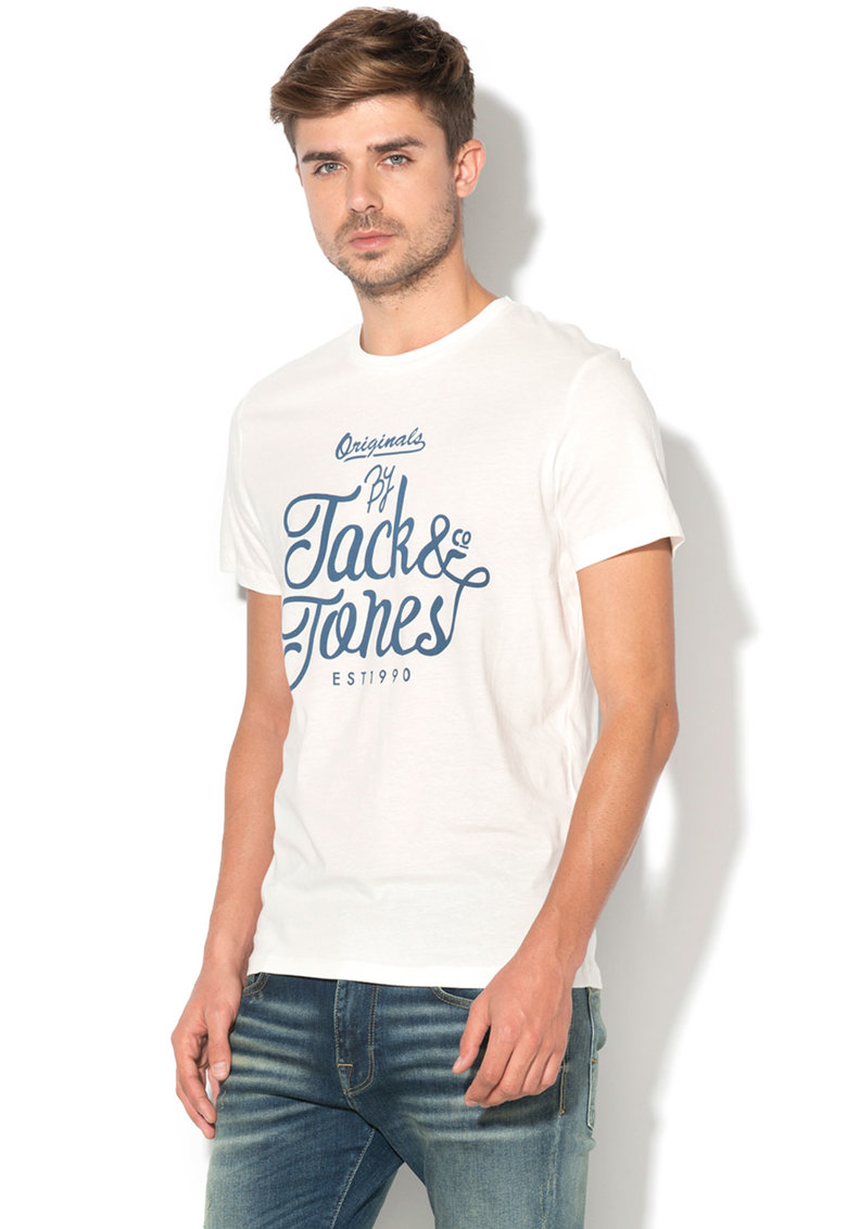 JackJones Tricou regular fit cu imprimeu text Traffic