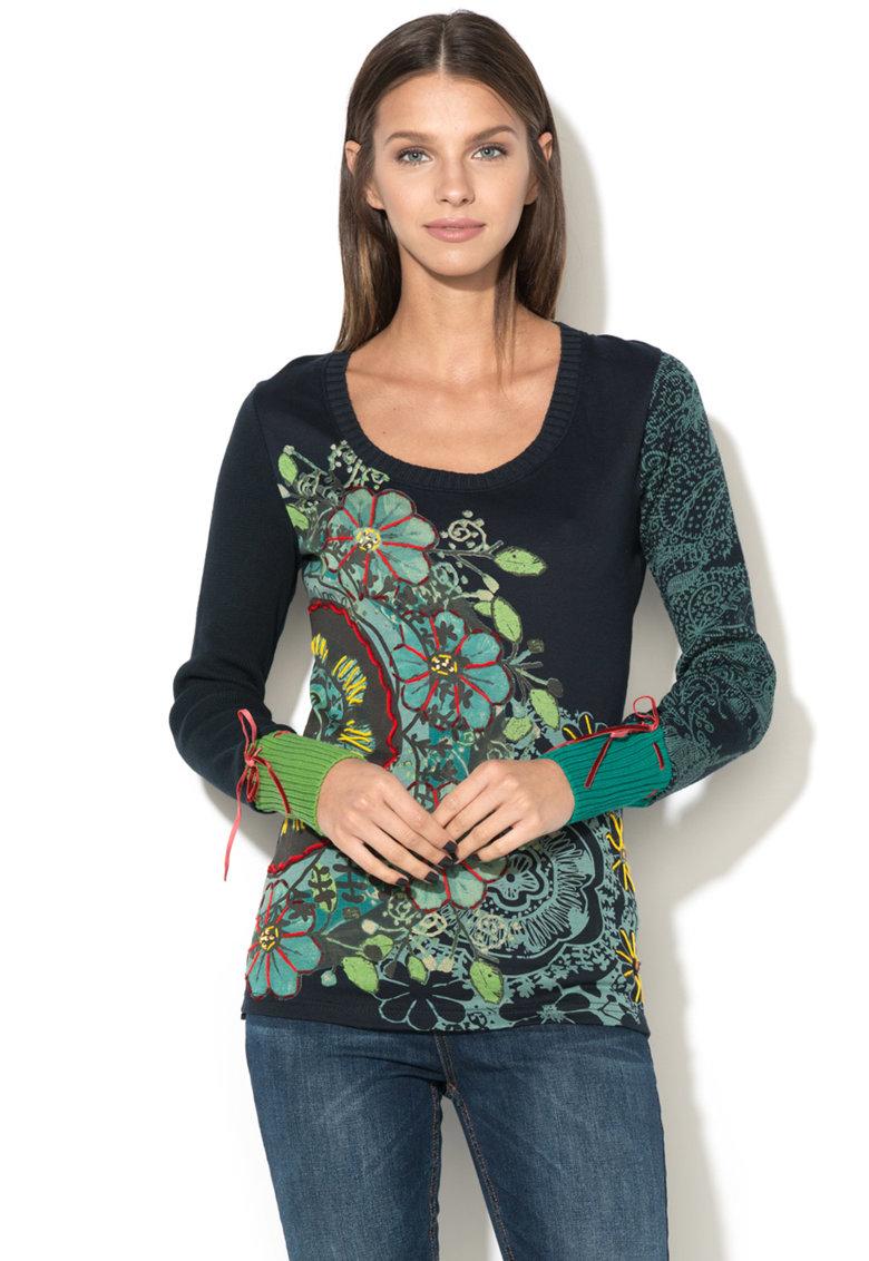 DESIGUAL Bluza cu maneci lungi si model floral Moni