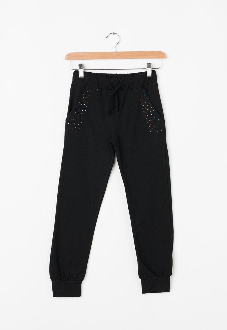 Zee Lane Kids Pantaloni jogger cu aplicatii din strasuri