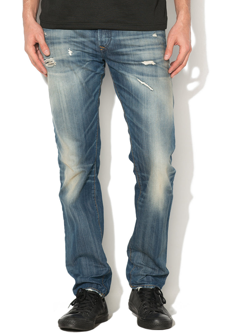 Diesel Blugi conici slim fit cu aspect decolorat Buster