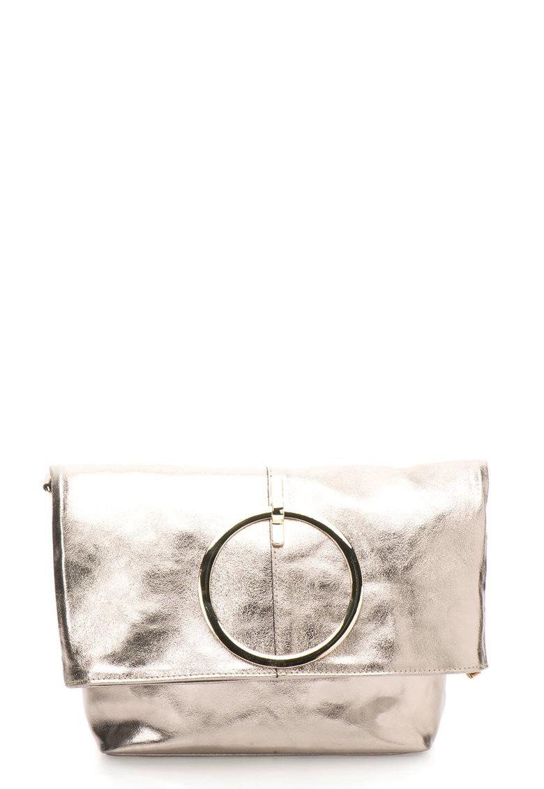 Geanta de umar pliabila cu aspect metalic de la Antonia Moretti