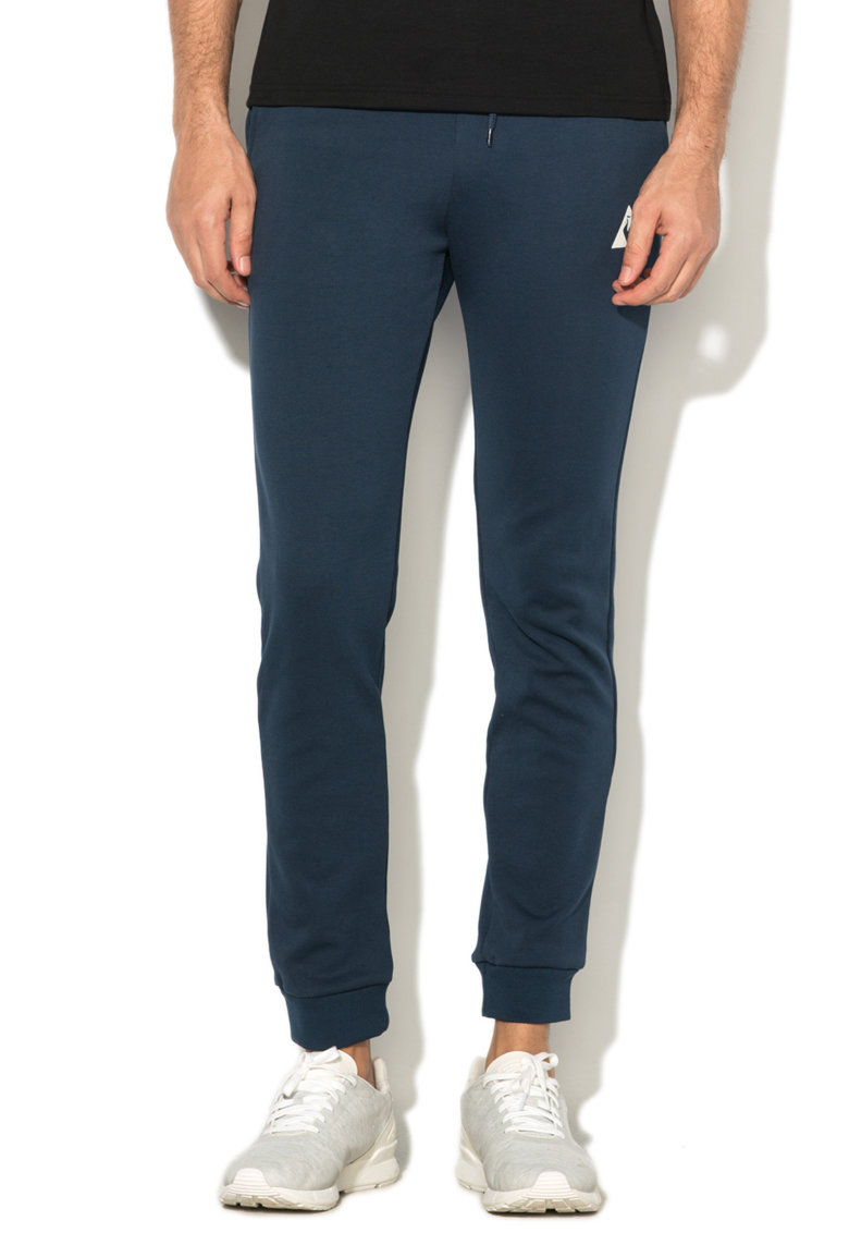 Le Coq Sportif Pantaloni sport cu banda in talie din material terry Tricolore