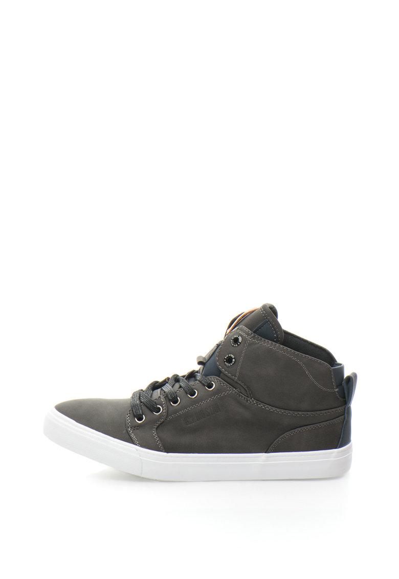 Pantofi sport mid-high de piele sintetica