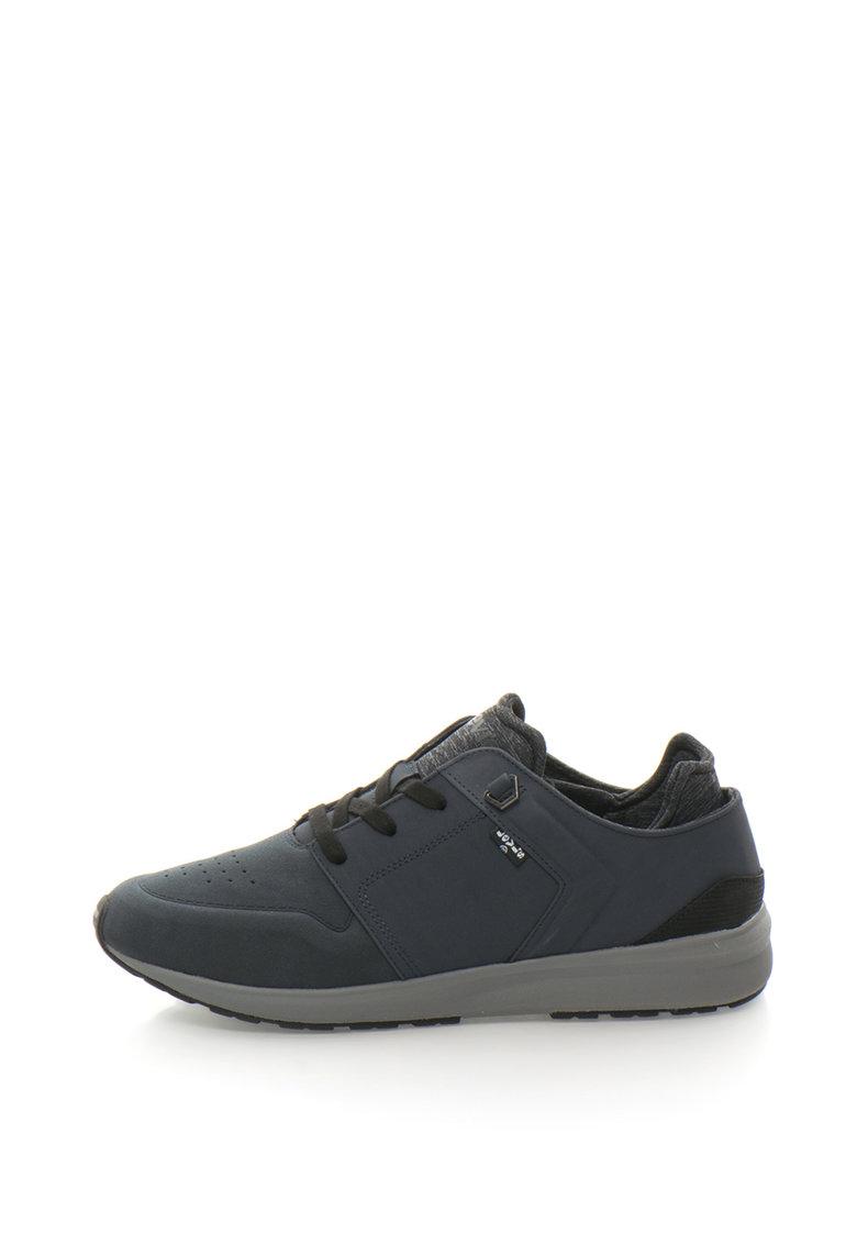 Pantofi sport de piele nabuc sintetica cu design perforat