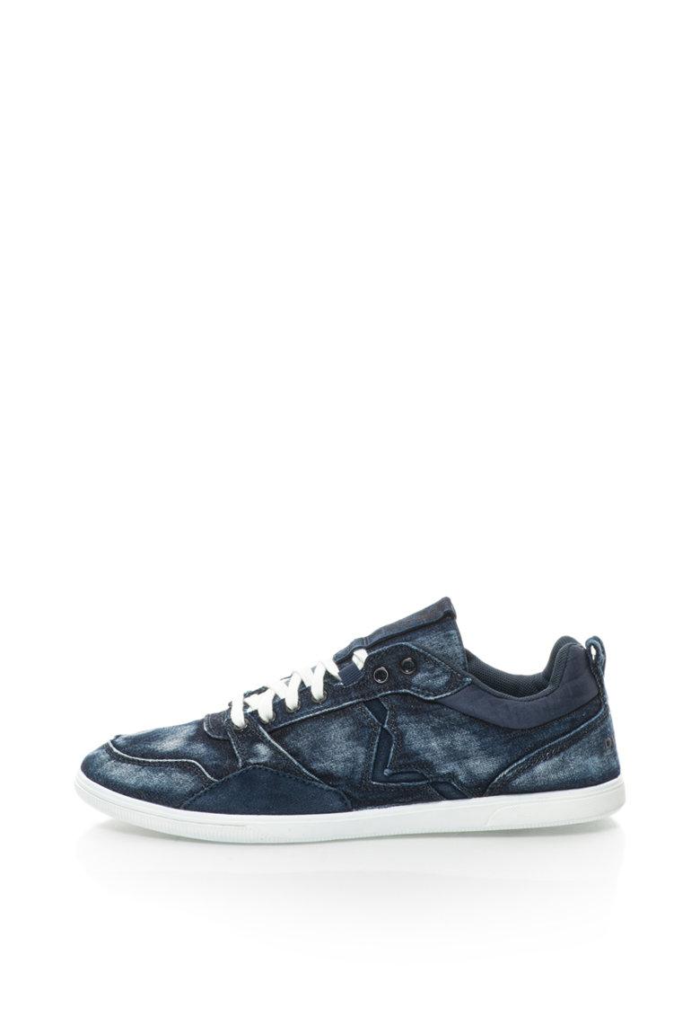 Diesel Pantofi sport cu garnituri de piele intoarsa si aspect de denim S-Tage