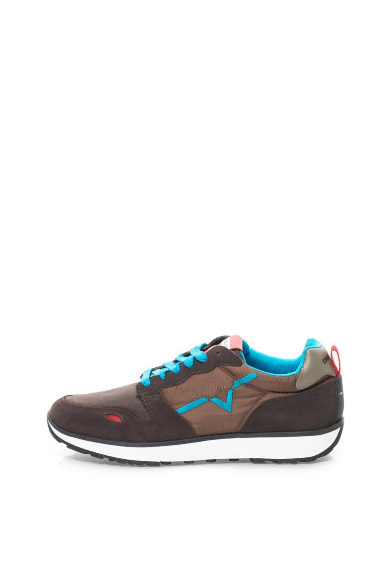 Pantofi sport cu garnituri de piele intoarsa de la Diesel
