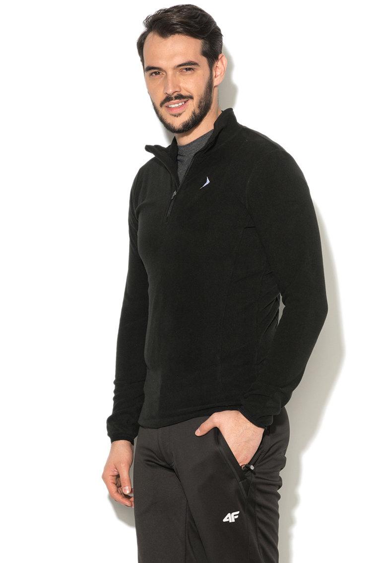 Bluza din fleece cu guler scurt si terminatii elastice