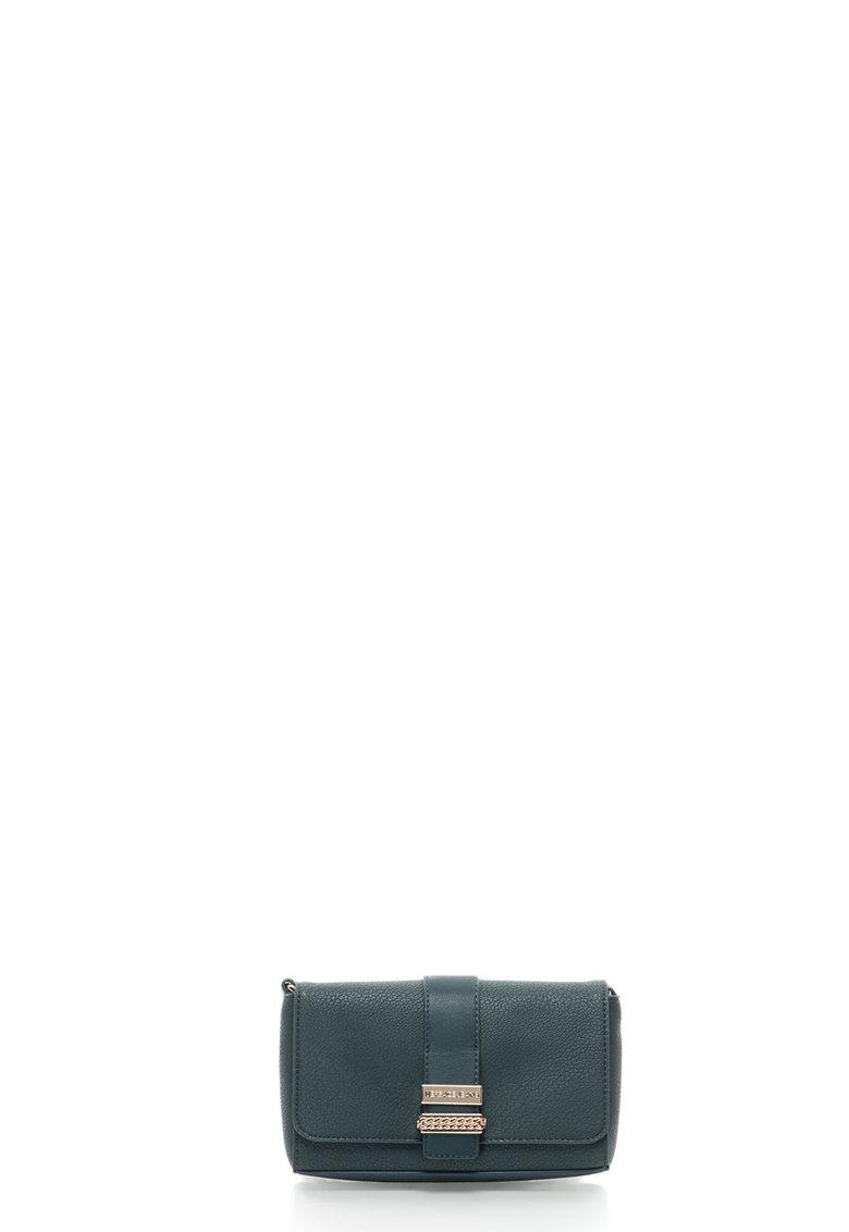 Geanta crossbody mica de piele sintetica – cu logo metalic de la Versace Jeans