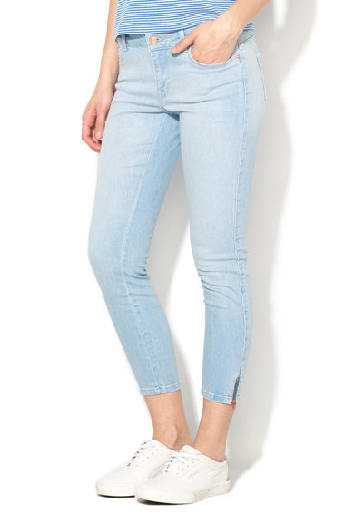 Only Jeansi crop bleu regular fit Carmen Femei