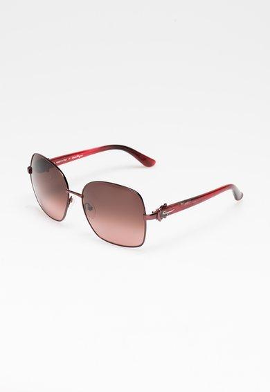 Ochelari de soare rosu granat cu roz zmeuriu de la Salvatore Ferragamo