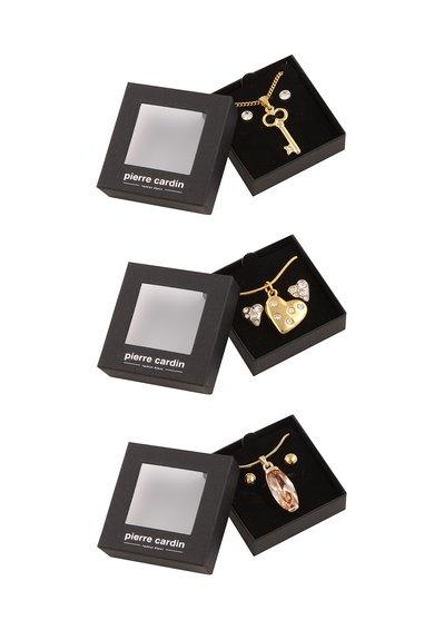 Pierre Cardin Set auriu de coliere si cercei