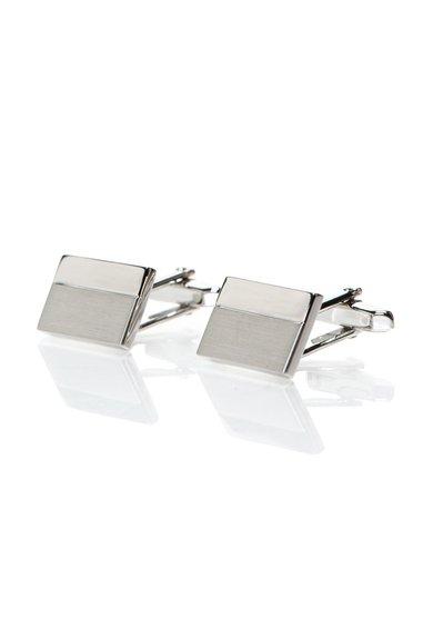 FashionDays.ro: Butoni argintii dreptunghiulari Vincenzo Boretti